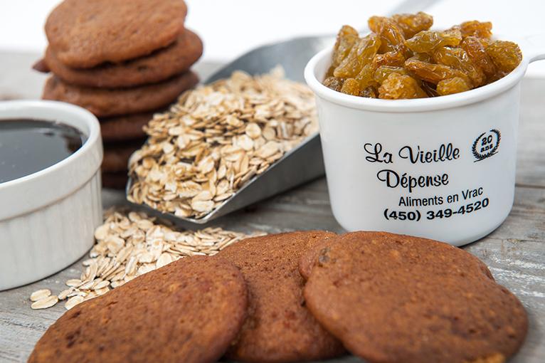 Biscuits avoine et raisin